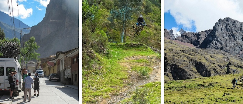 Shuttling to the trails and riding the Mega Avalanche along with riding Lares.