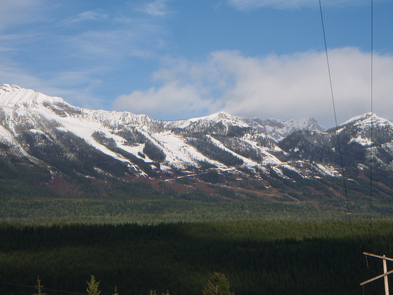 Spring Maintenance at Kicking Horse. Snowline on June 7