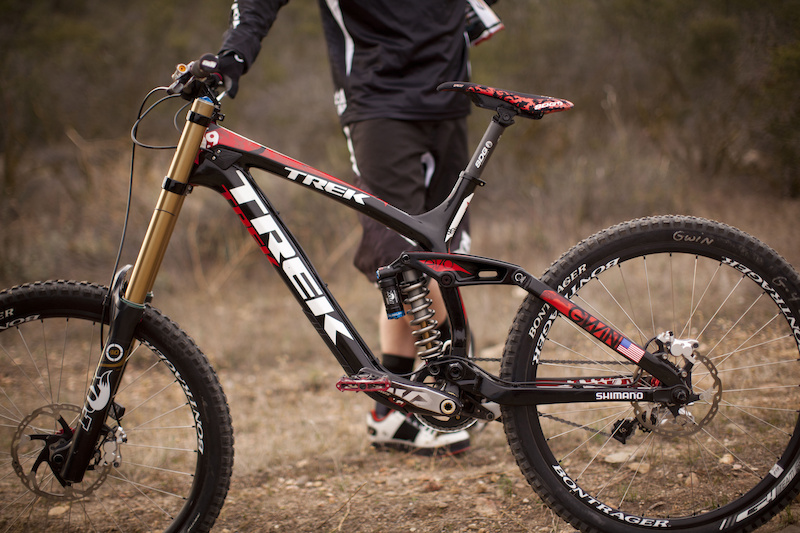 Aaron Gwin prototype testing Shimano Saint in Temecula Califonia, February 2012.