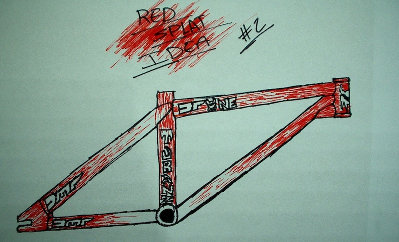 Possible design for DMR frame - red streak effect.