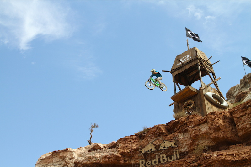 Yannick hits the HUGE Oakley drop during Rampage 2010
