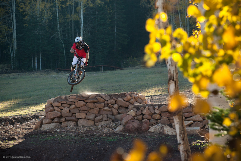 Porter shredding the Canyons Bike Park Fall 2011