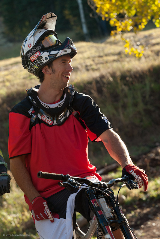 Porter shredding the Canyons Bike Park, Fall 2011