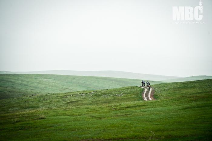 Riding the grassy hills just out of Ulaan Baatar on Stage One. Photo Credit: Margus Riga