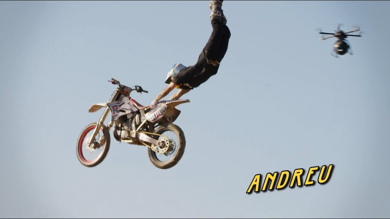Andreu FMX- Superman filmed by a drone. A typical Laco