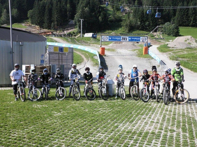 Participants at the first Rookie Freeride Camp in July 2012.