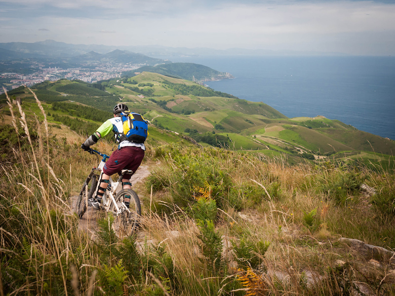 Tom riding the great coastal trails. 