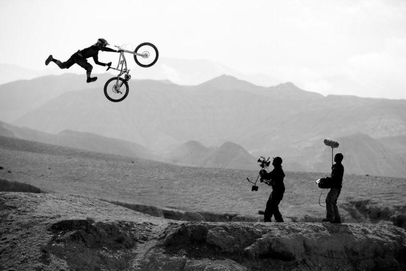 Air Time! filming for Where The Trail Ends