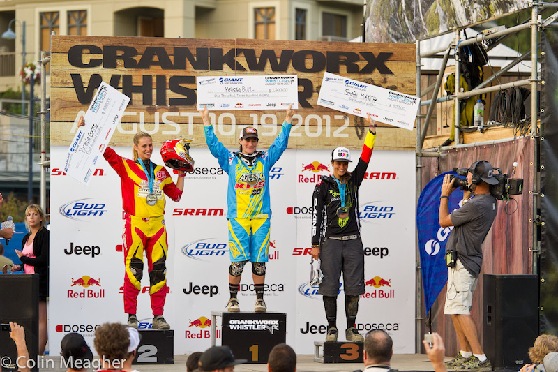 Women's Pro Podium (L-R): Micayla Gatto 2), Melissa Buhl (1), and Steffi Marth (3)