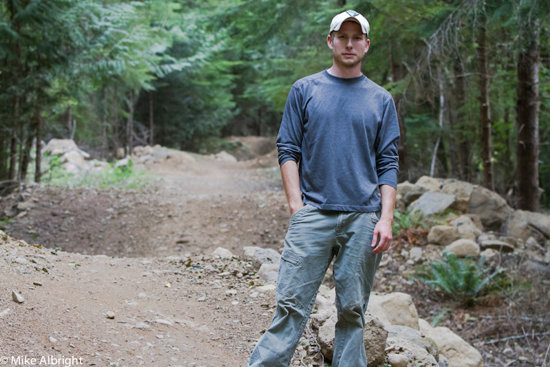 If you enjoy Sandy Ridge's trails please thank this man, Adam Milnor.  Adam, along with many other dedicated builders, has spent many-an-hour moving dirt and rocks so that all riders can be entertained and challenged.  Adam came out just to watch riders of all abilities take different lines through his work.