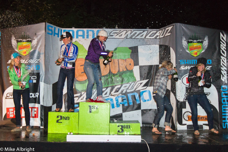 The Pro Women enjoy their 2012 North American Enduro Tour (NAET) podium.