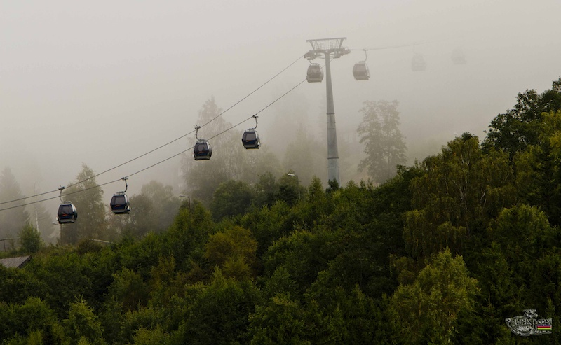 the weather was touch and go this morning - i call this one gondola's in the mist