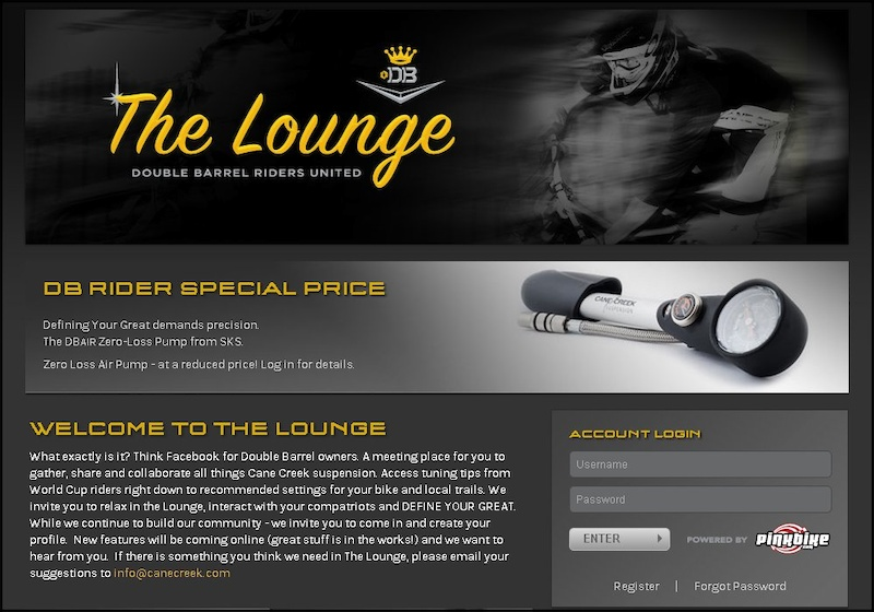 Cane Creek Lounge page