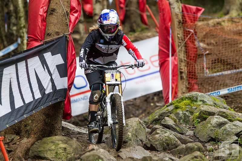 Rachel Atherton, fastest today by almost 10 seconds. Can anyone even come close tomorrow?
