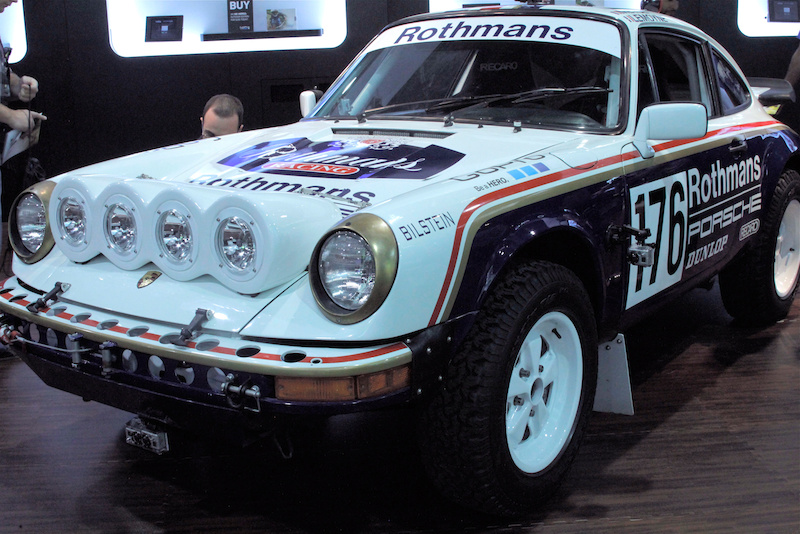 Rally Porsche in the GoPro booth at Interbike