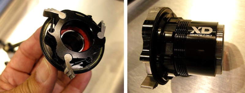 SRAM XX1 XD freehub showing pawls