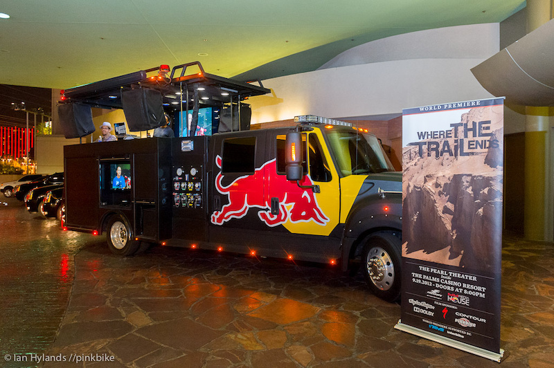 Probably the biggest and best Red Bull vehicle we've seen, a fire truck.