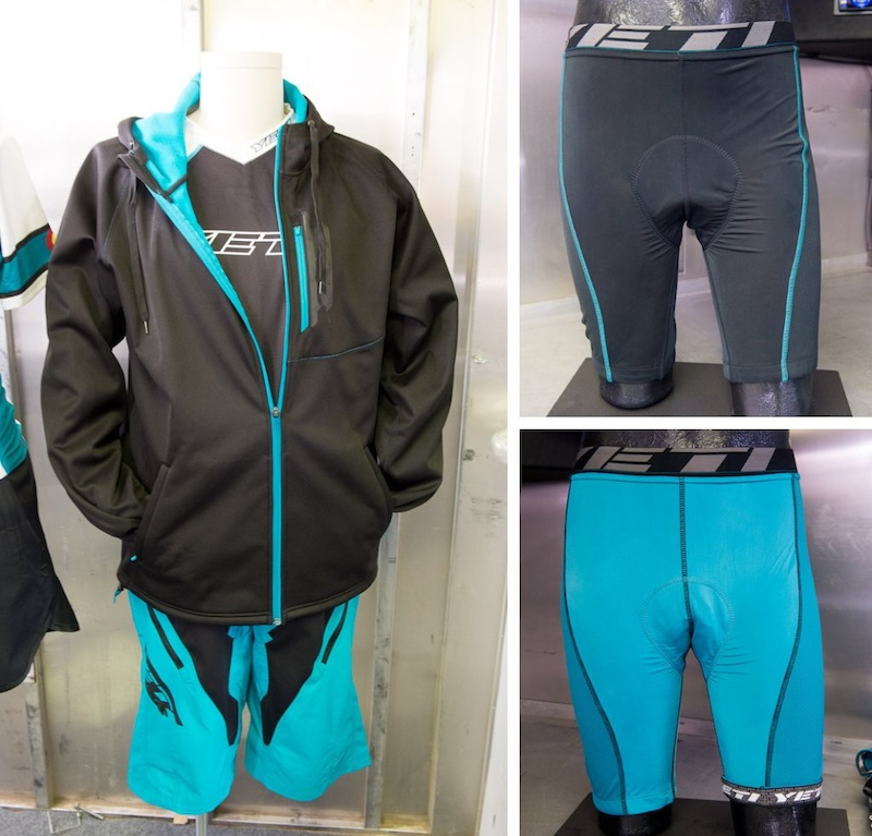 Yeti 02 Downhill jersey under 01 Smuggler hoody jacket. Padroni DH pants. right Como padded liner above Morley lightweight padded liner.