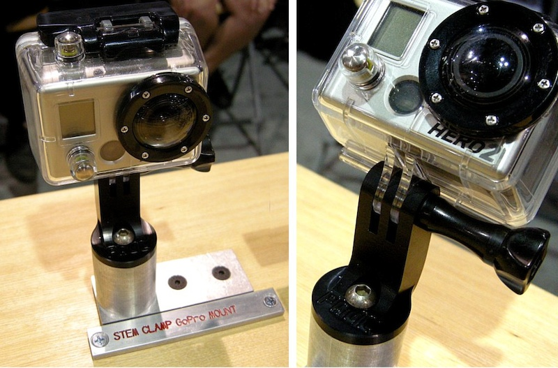 Paul Components builds a stem-cap mount for the GoPro camera. The machining is beautiful as usual. Turn the camera on yourself or set it an any angle to catch another rider in action.