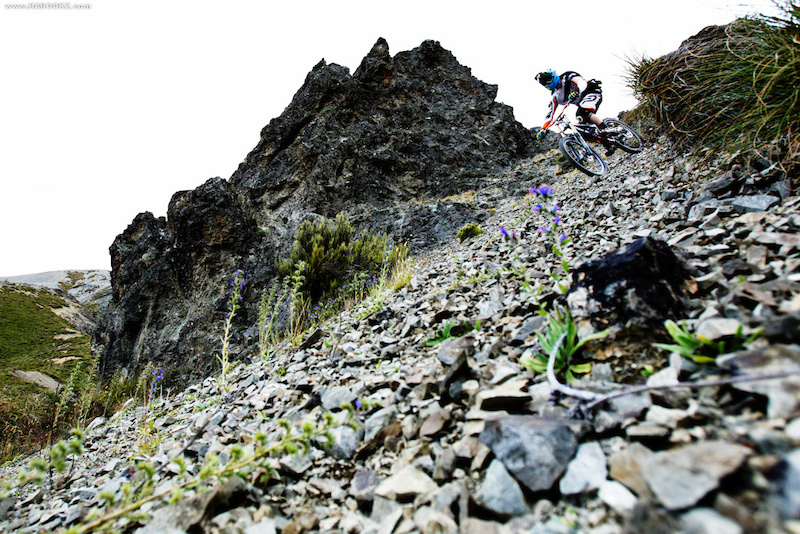 Influenced by Aggy, Nico got down with some freeriding on this scree slope in Craigieburn.
