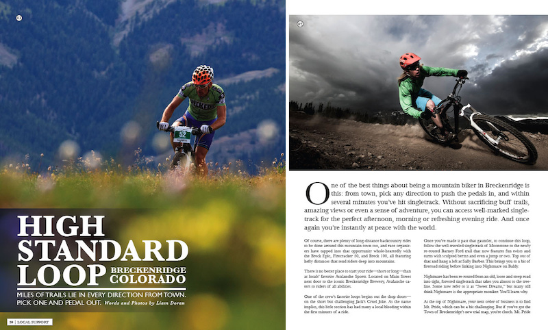 Avalanche Sports in Breckenridge, CO wrote one of three trail and ride reviews in Volume 3.2. Others that accompany it in 3.2 are from Republic Cycles in Brackendale, BC and Kristian Jackson in Kingsport, TN.