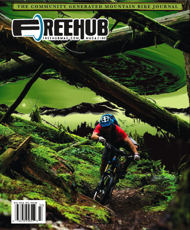 Freehub is different than any other Mountain Bike publication on the market, and will always showcase community generated content and a mixture of Art and Photography on their covers as shown here on Volume 3.2.