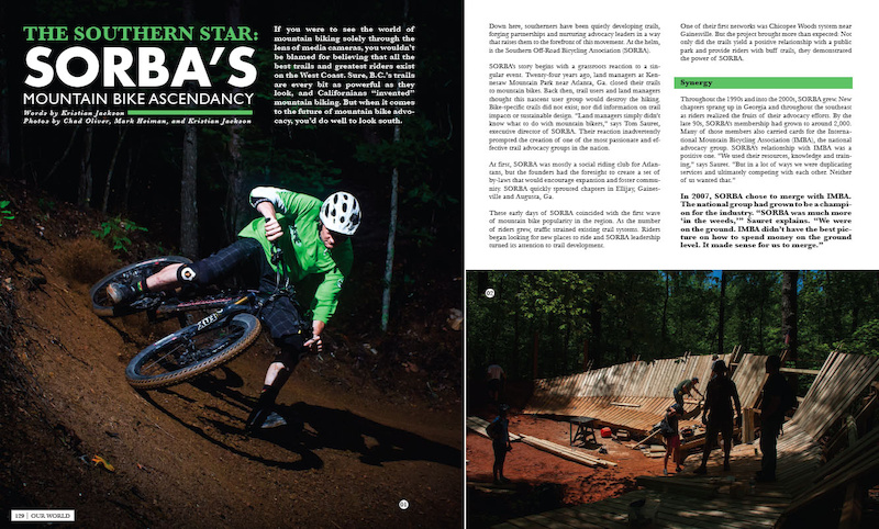 Southern Off-Road Bicycling Association is one of the features in 'Our World', a section that is dedicated to the endeavors associated with growing and building our sport.