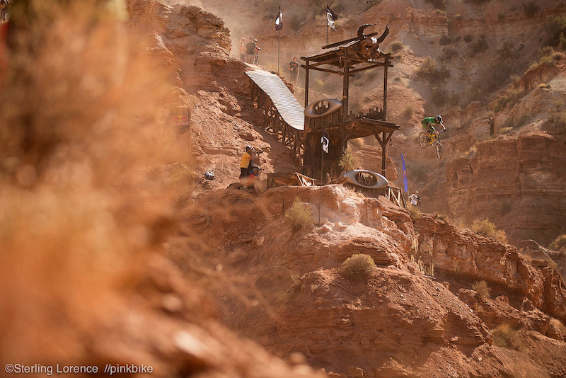 Kinrade battling the winds...at 2012 Redbull Rampage