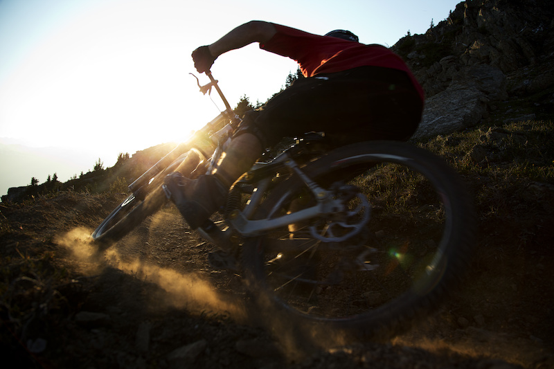 Mountain bike rider Dylan Sherrard is seen riding on Whistler mountain in Whistler, B.C. Saturday, August 11, 2012. THE CANADIAN PRESS/Jonathan Hayward