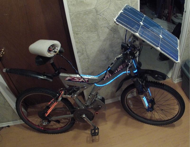 Solar Cross Hybrid E Bike Endless Sphere