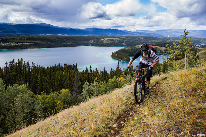 Matt Hunter above Chadburn Lake, Whitehorse, Yukon