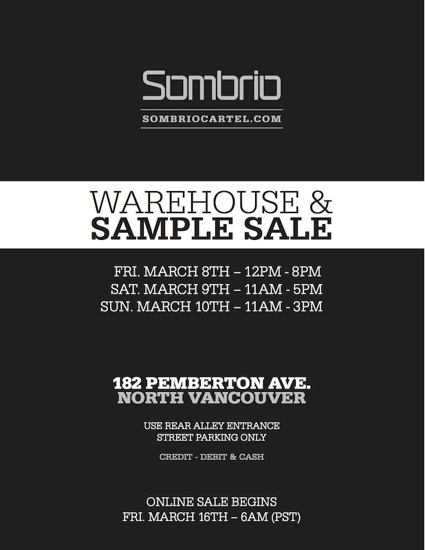 Sombrio Warehouse Sale