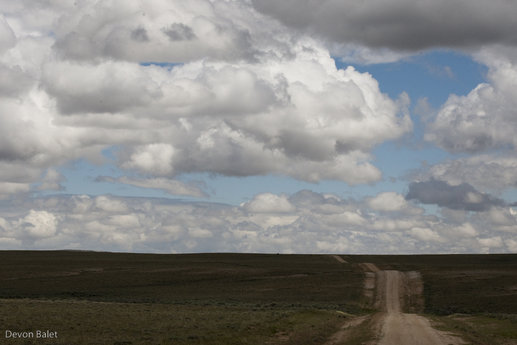 The never ending roads of the Great Basin of Wyoming.