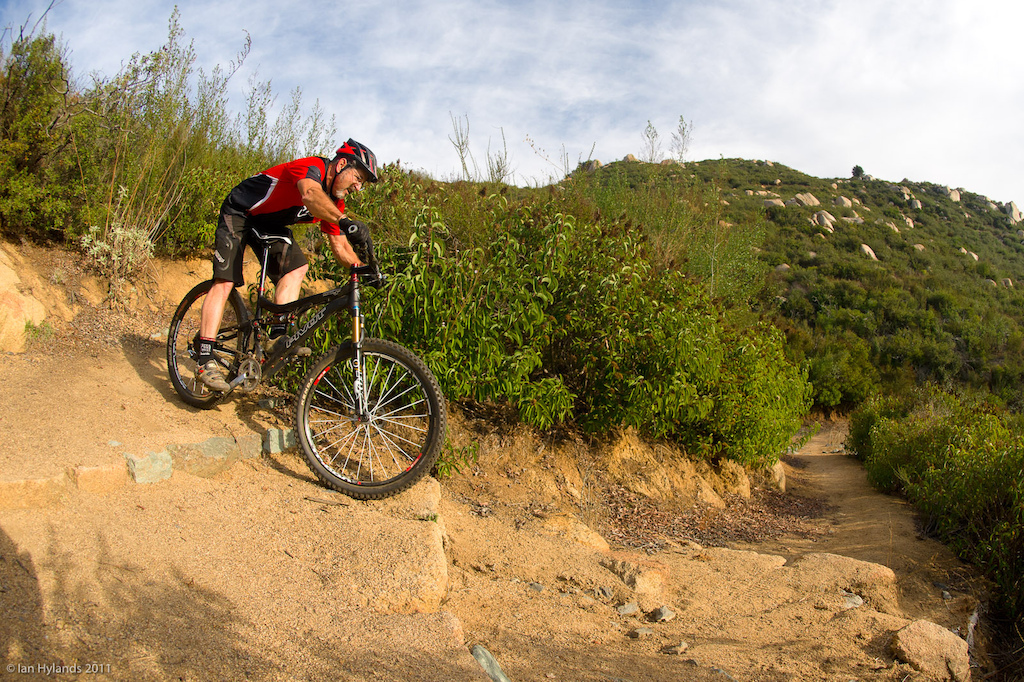 Richard Cunningham riding near San Diego