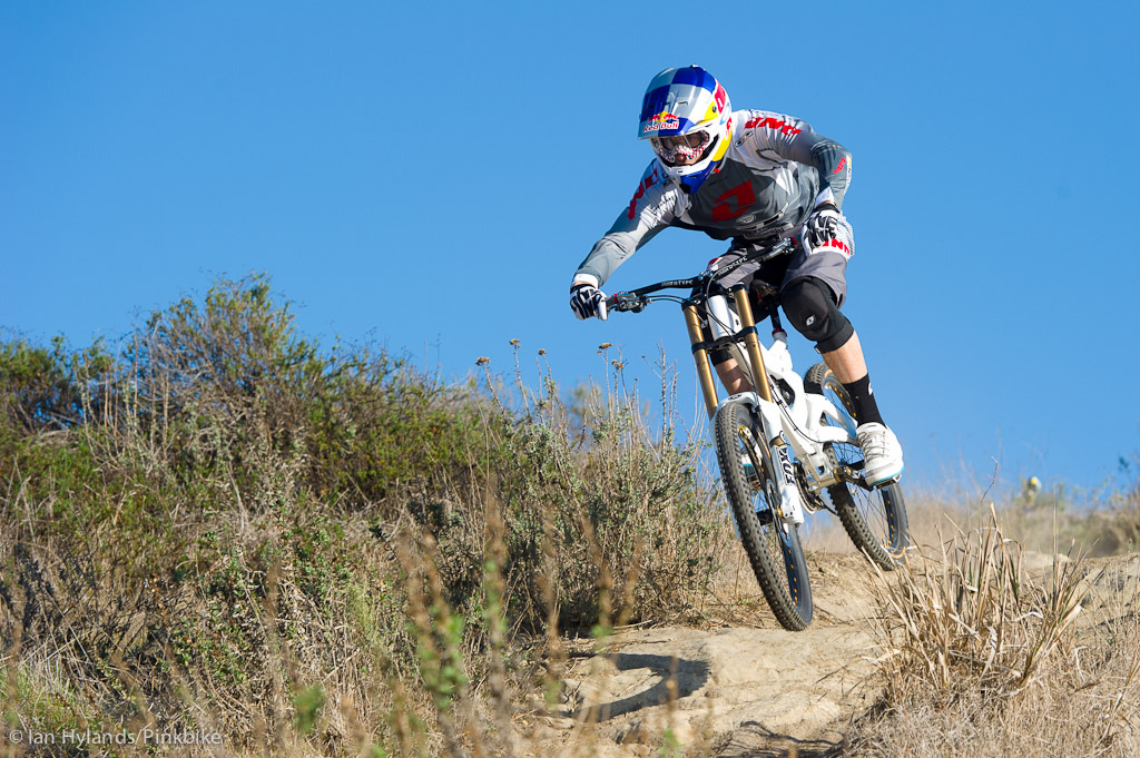 Gee Atherton rides his new GT Fury near Laguna Beach California