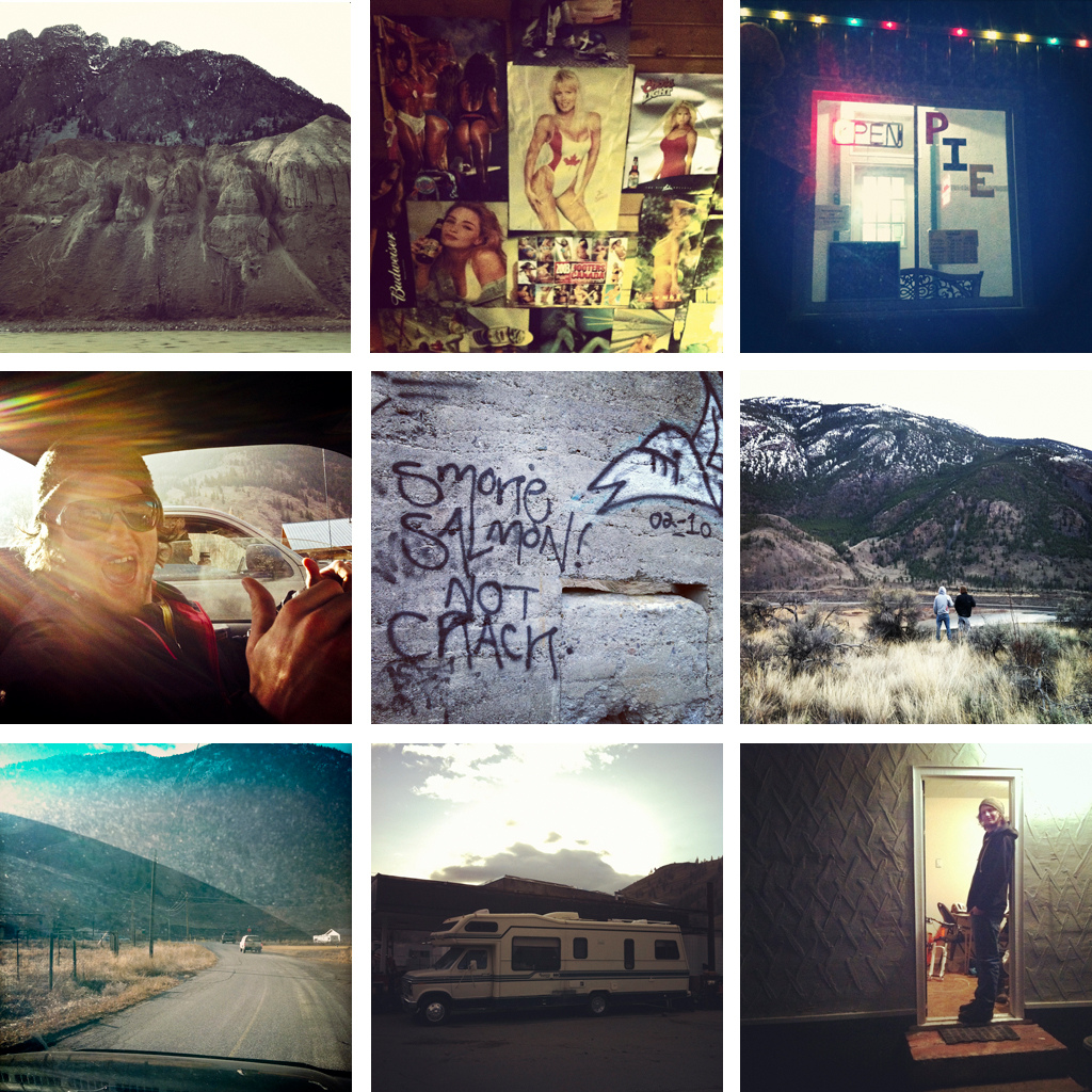 Spences Bridge scenery with Margus Riga.