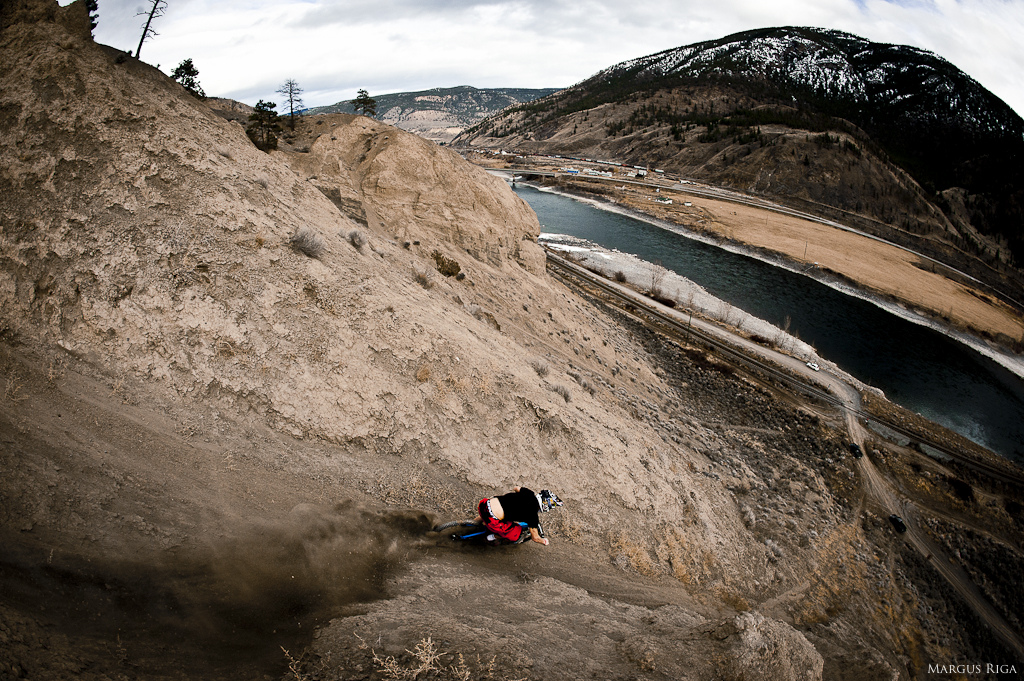 James Doerfling in Spences Bridge with Margus Riga.