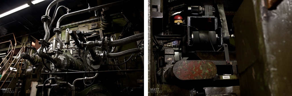 Detail shots of the pressing machine.