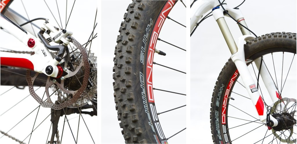 Syntace X12 axle Schwalbe Hans Dampf tire RockShox Sektor fork