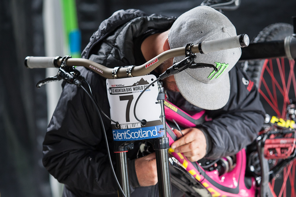 Every race bike needs a bit of love before a run.