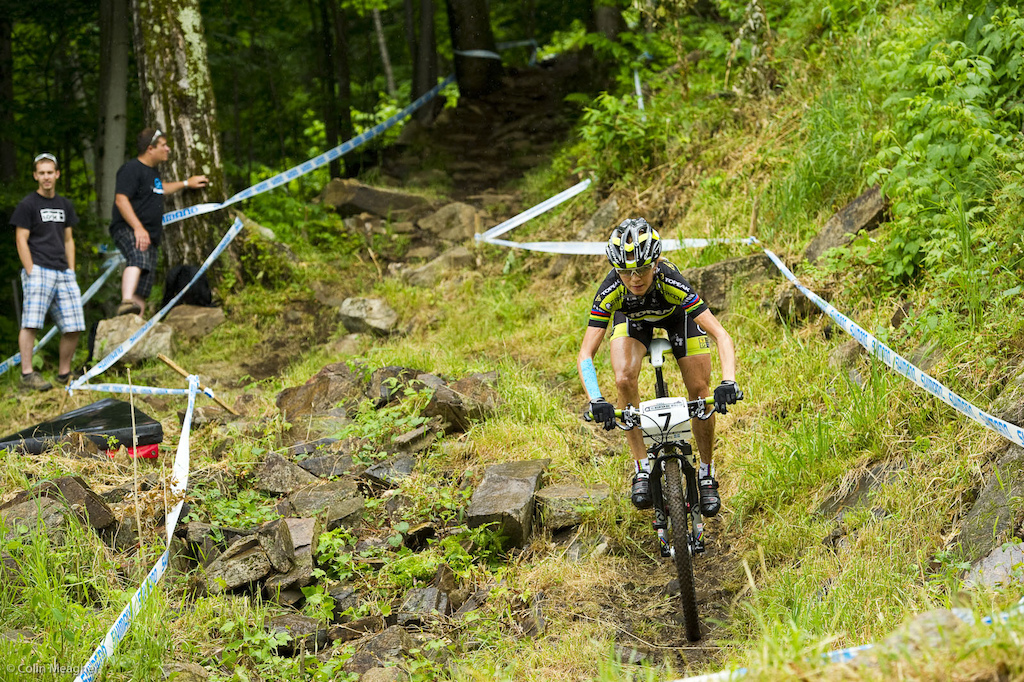 Irina Kalentiava took the La Bresse XC off to pursue some high elevation training. It didn t seem to do a lot of good 5 12 off the pace and seventh place for the Russian.