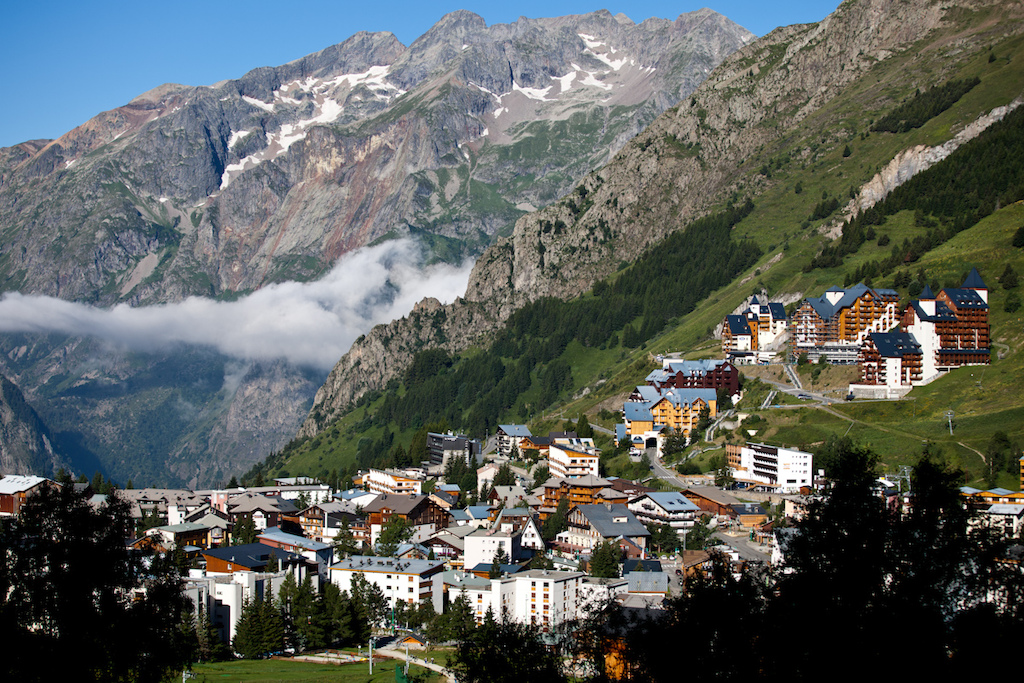 The village of Les Deux Alps the location of Crankworx Les deux Alpes in France.