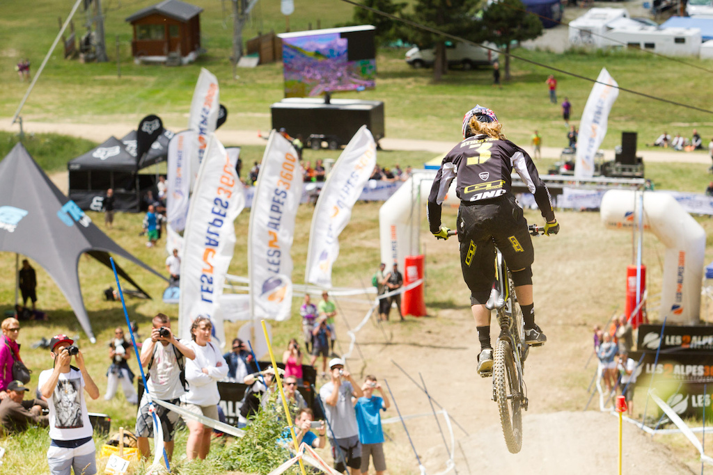 Rachel Atherton on her way to the top spot