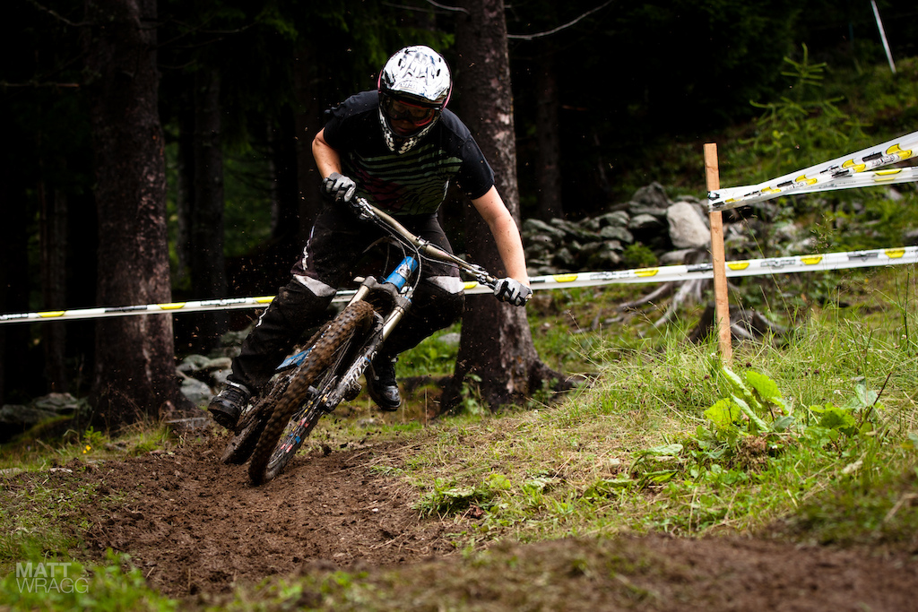Mark Scott pinning it in the slick mud.