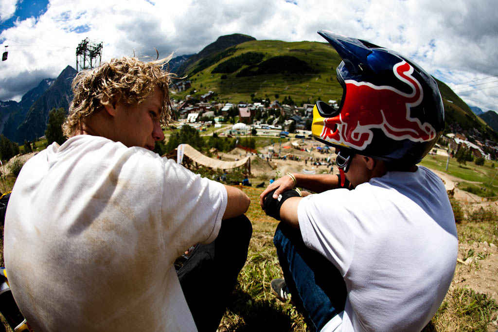 Riders were ready to go but unfortunately the wind had other plans. Best trick will go during the slopestyle finals