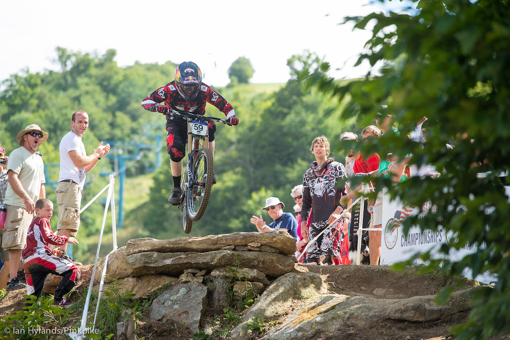 Aaron Gwin winning the USA Cycling National DH Championships.