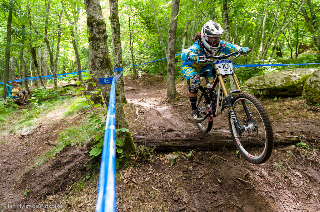 Melissa Buhl won the slalom but hasn t been training DH quite as much lately. She still managed to pull out a 2nd place finish behind Jackie Harmony.