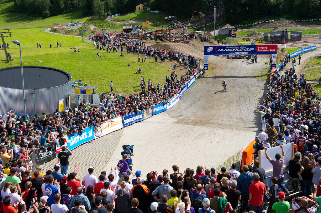 Look for the crowds at the finish in Leogang to be about double what they were last year. World Cup racing is one thing World Champs are something else entirely.