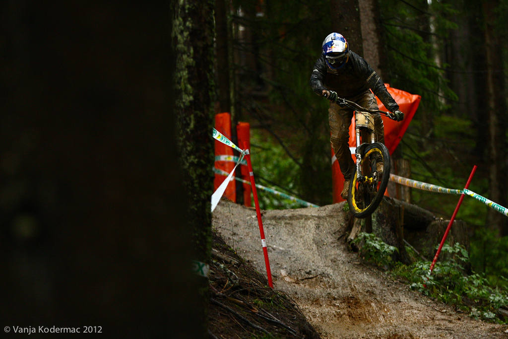Brook MacDonald. This bike park style course has not much in common with the one from Val d Isere where he grabbed his first world cup win. justsayinandnothingmore