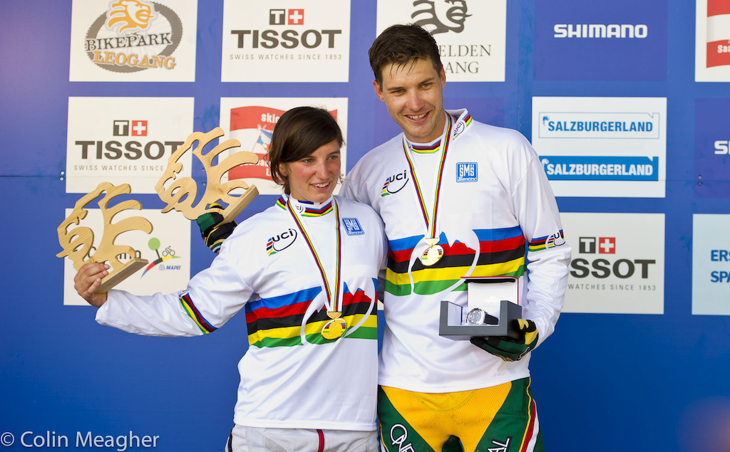 Morgane Charre and Greg Minnaar.